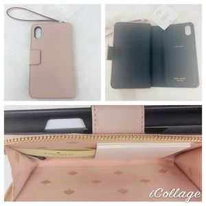 Kate spade Cameron zip wristlet phone case vellum
